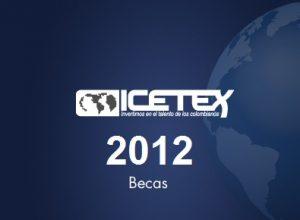 Becas icetex 2012