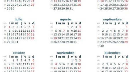 calendario colombia 2013