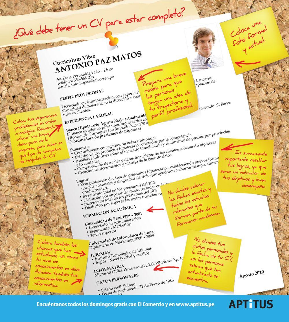 English curriculum Vitae | Nominas
